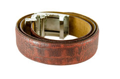 Belt Brown leather strap Royalty Free Stock Photography