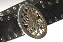 Belt Buckle. Photo of Metal Belt Buckle - CLothing Related Royalty Free Stock Photography