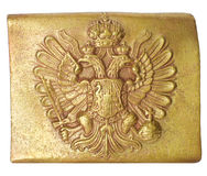 Belt buckle of the Austrian soldier. Royalty Free Stock Photos