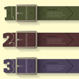 Belt buckle infographic background design Stock Photo