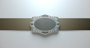 Belt Buckle And Leather Royalty Free Stock Photo