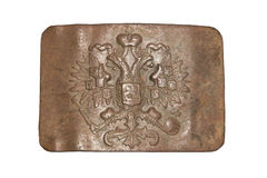 Belt buckle. The belt buckle of the Russian Imperial Army Royalty Free Stock Image