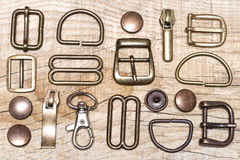 Belt buckles and rivets Stock Photos