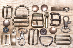 Belt buckles and rivets Royalty Free Stock Images