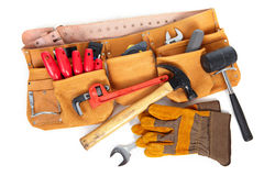 Belt builder and instruments Royalty Free Stock Photos