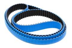 Belt car engine isolated white background. Blue tuning belt car engine isolated white background stock photos