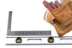 Belt with carpenters tools Stock Photos
