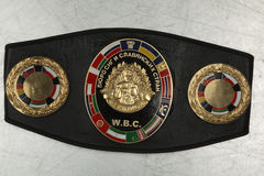 A belt of the champion in Boxing.WBC. Stock Images