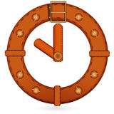 Belt clock. Abstract image clock made from a leather belt Royalty Free Stock Images