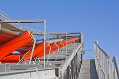 Belt conveyor. System in an opencast gravel mine Stock Photography