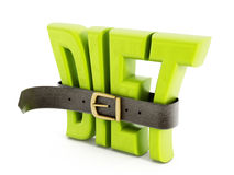 Belt and diet word Royalty Free Stock Photography