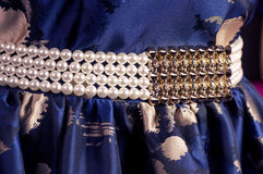 Belt and dress on a mannequin royalty free stock photo