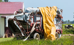 Belt Drive Harvester Stock Photo