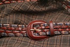 Belt and fabric Royalty Free Stock Photo