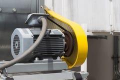 Belt Guard safety protection of motor. Belt Guard safety protection for motor of air blower royalty free stock photo