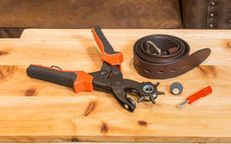 Belt Hole Puncher Kit Royalty Free Stock Image