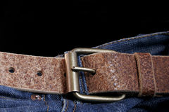 Belt and Jeans Stock Images