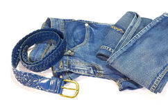 Belt and jeans Royalty Free Stock Photo