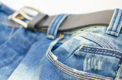 Belt and jeans Royalty Free Stock Photos