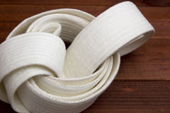 Belt - karate clothing accessory Royalty Free Stock Photography