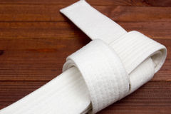 Belt - karate clothing accessory Royalty Free Stock Image