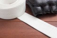 Belt - karate clothing accessory Stock Photo