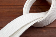 Belt - karate clothing accessory Royalty Free Stock Images