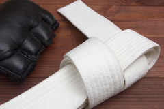 Belt - karate clothing accessory Stock Images