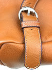 Belt on leather bag Stock Photography
