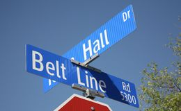 Belt Line Road, Addison Texas Royalty Free Stock Photo