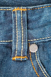 Belt loops on blue jeans Royalty Free Stock Image