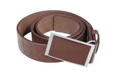 Belt with metal buckle. Stock Photography
