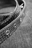 Belt over velvet background Royalty Free Stock Image