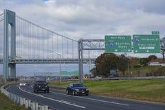 Belt Parkway near Verrazano Bridge in Brooklyn royalty free stock photos