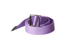 Belt. Purple cotton belt with iron head Stock Photo