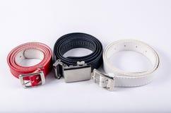 Belt red white black Stock Images