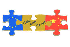 Belt and Road, 3D rendering Stock Photo