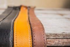 Belt runs down below. Stock Image