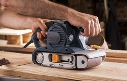 Belt sander Royalty Free Stock Photos