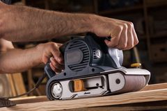 Belt sander Royalty Free Stock Photo