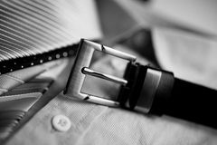 Belt shirt and ties Stock Images