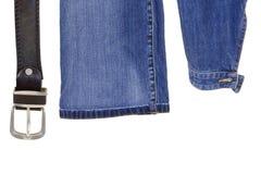 Belt, sleeve jacket and pants Stock Photos