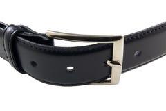 belt svart läder Royaltyfri Fotografi