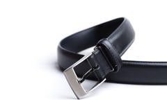 belt svart läder Arkivbild