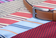 Belt and tie Royalty Free Stock Photo