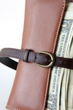 Belt tighten wallet Royalty Free Stock Photos