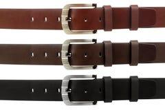 Belt tri. Man's belt on white background Stock Images