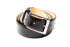 Belt twisted into a ring Stock Photography