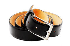 Belt twisted into a ring Royalty Free Stock Photo