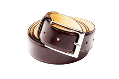 Belt twisted into a ring Royalty Free Stock Photography